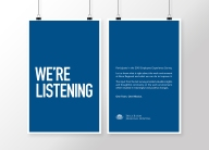 Art directed and designed poster set as part of internal human resources campaign.